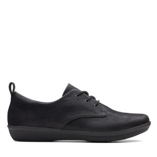 Clarks Ayla Reece Black Synthetic Womens Shoes